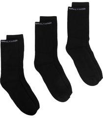 1017 alyx 9sm logo-print ribbed socks - black