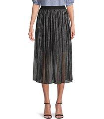 pleated sheer skirt