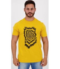camiseta volcom silk projectionist amarela - masculino