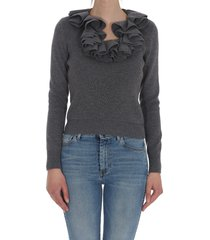 alexander mcqueen sweater with ruches