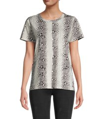 n:philanthropy women's jigsaw bff snakeskin-print cotton t-shirt - mint snake - size m