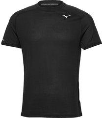 dryaeroflow tee t-shirts short-sleeved svart mizuno