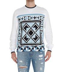 dolce & gabbana parco dei principi maiolica print sweatshirt
