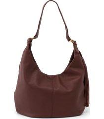 hobo gardner leather shoulder bag - brown