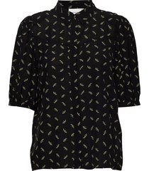 belinagz shirt ao20 blouses short-sleeved svart gestuz