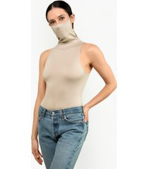 bam by betsy & adam sleeveless bodysuit with attached mask, created for macy's