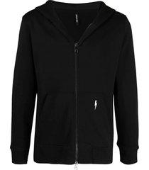neil barrett black cotton-blend hoodie
