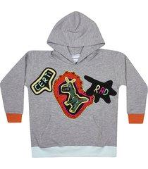 michaela buerger contrast trim hoodie