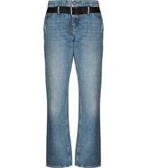 rta dexter belted boyfriend jeans - blue