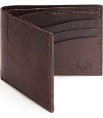ezra arthur no. 8 leather wallet in jet black at nordstrom