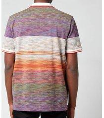 missoni men's stripe polo shirt - multi - xl