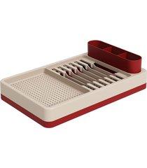 escorredor de louças flat 42x26x10cm vermelho bold - 17000/1332 - coza - coza