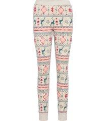 legging micro fleece trees pyjamasbyxor mjukisbyxor beige hunkemöller