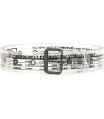 kolor label print transparent belt - black