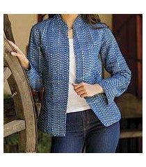 cotton jacket, 'indigo beauty' (india)
