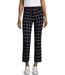patterned cropped pants