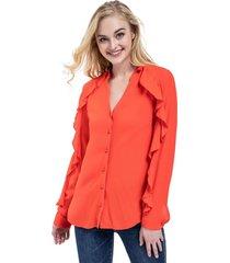 blusa manga con vuelos rojo nicopoly