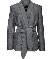 balmain lurex blazer with belt
