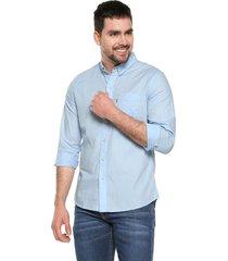 camisa azul levis