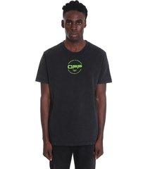 off-white hand logo t-shirt in black cotton