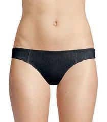 the isabella low-rise denim bikini bottom