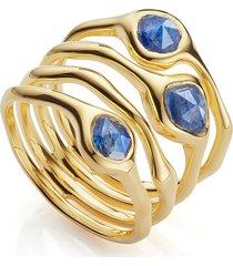 monica vinader siren cluster cocktail ring, size 5.5 in gold/kyanite at nordstrom