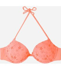 calzedonia padded push-up top swimsuit portofino woman orange size 2