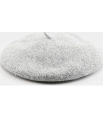 zoey basic felt beret hat - gray