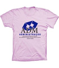 camiseta baby look lu geek administraã§ã£o rosa - rosa - feminino - dafiti