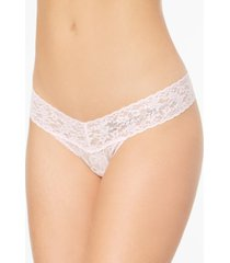 hanky panky bridesmaid low-rise sheer lace rhinestone thong 491031