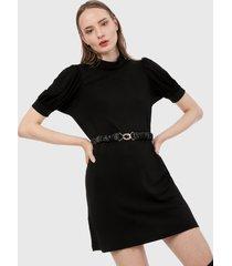 vestido negro mng