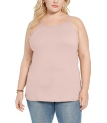 aveto trendy plus size halter tank top