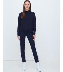 motivi pantaloni skinny con nervature donna blu