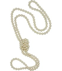 majorica pearl necklace, organic man-made pearl endless rope