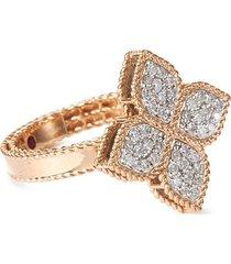 'princess flower' diamond 18k rose gold ring