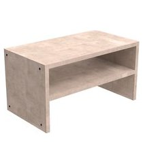 mesa de centro retangular bamberg concreto