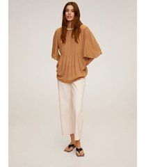 blouse met parelhals