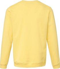 sweatshirt van 100% katoen met logoborduursel van louis sayn geel