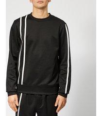 helmut lang men's sport stripe sweatshirt - black/white - s - black