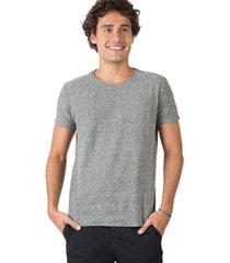 t-shirt básica mescla botonê verde escuro verde escuro/p - kanui
