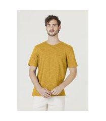 camiseta hering regular manga curta amarelo