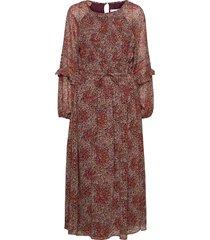 nuria knälång klänning brun mango