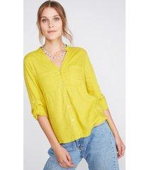 blusa cuello tunica amarillo sioux