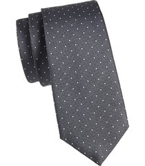 canali men's dot-print silk tie - blue