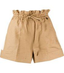 twin-set paperbag waist-tied shorts - neutrals
