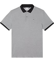 calvin klein liquid touch modern fit polo shirt black micro stripe