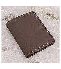 leather wallet, 'espresso helper' (el salvador)