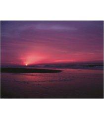 "kurt shaffer photographs sunrise at sunset beach canvas art - 15.5"" x 21"""