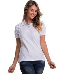 camiseta polo hamer, básica de mujer, casual, para uso diario, clasica color blanco