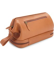 zippered leather toiletry bag